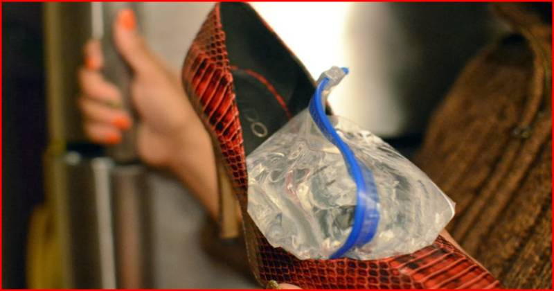 Widen your shoes with water